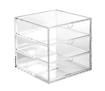 Osco – Papelera cubo de 16,5 cm, acrílico), transparente