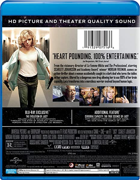 Amazon.com: Lucy [Blu-ray]: Scarlett Johansson, Morgan Freeman, Choi Min-Sik, Amr Waked, Luc Besson, Virginie Besson-Silla: Movies & TV
