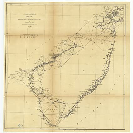 Amazoncom 18 X 24 Canvas 1869 Us Old Nautical Map Drawing Chart - Us-map-1869