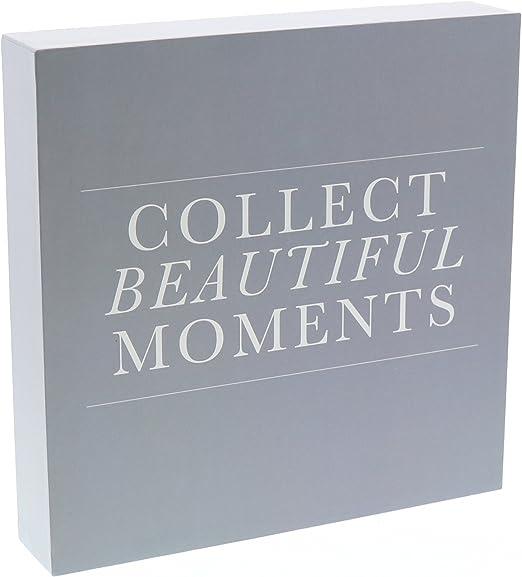 Amazon.com: Colecciona momentos hermosos Letrero De Caja ...