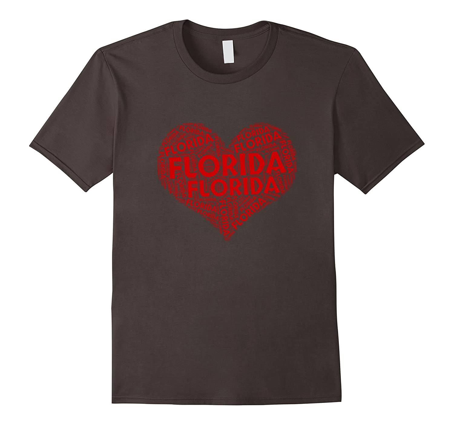 Word Cloud Florida Heart State Flag Map T-Shirt Gifts