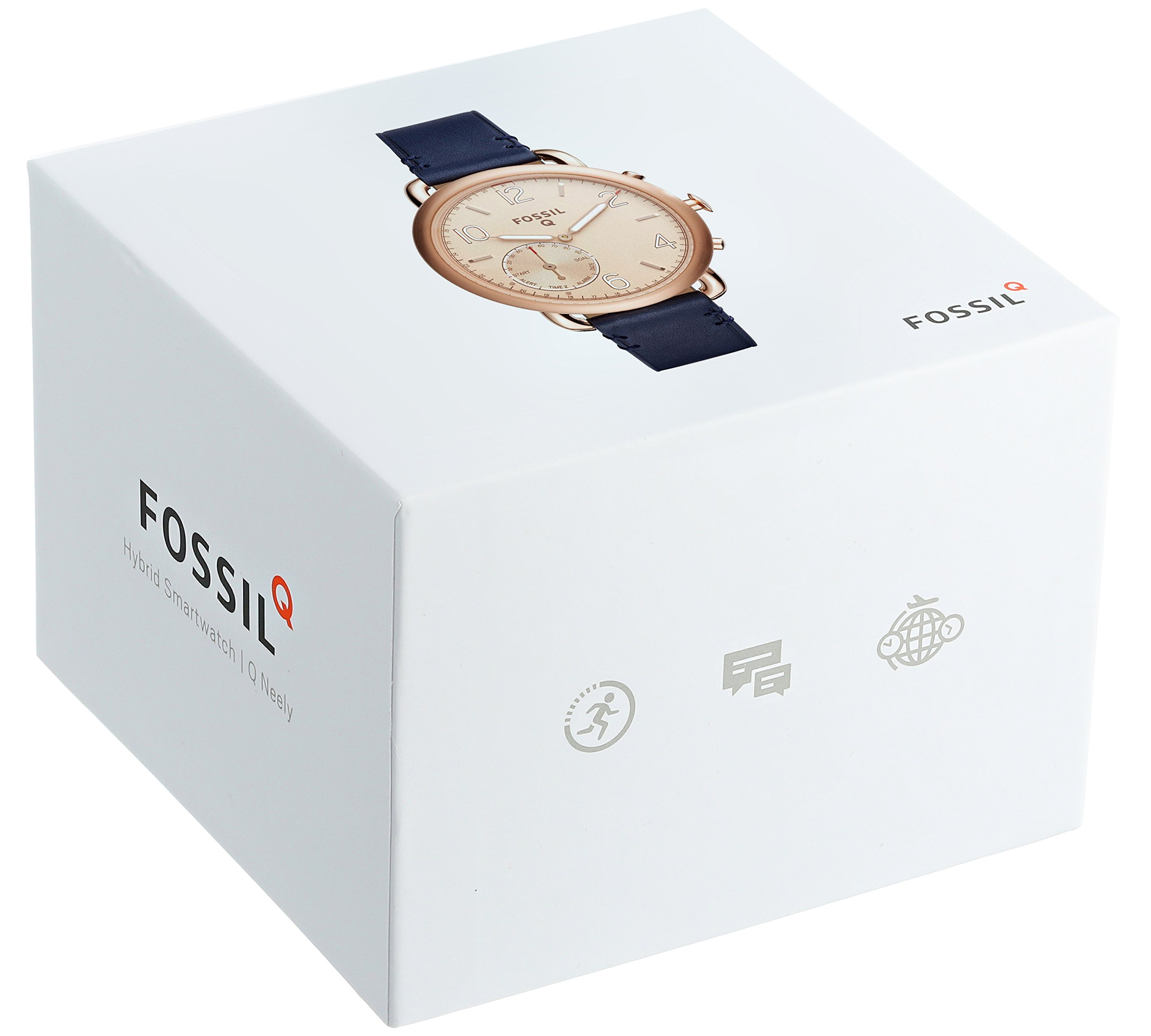 Fossil Hybrid Smartwatch - Q Tailor Dark Navy Leather by Fossil (Image #3)