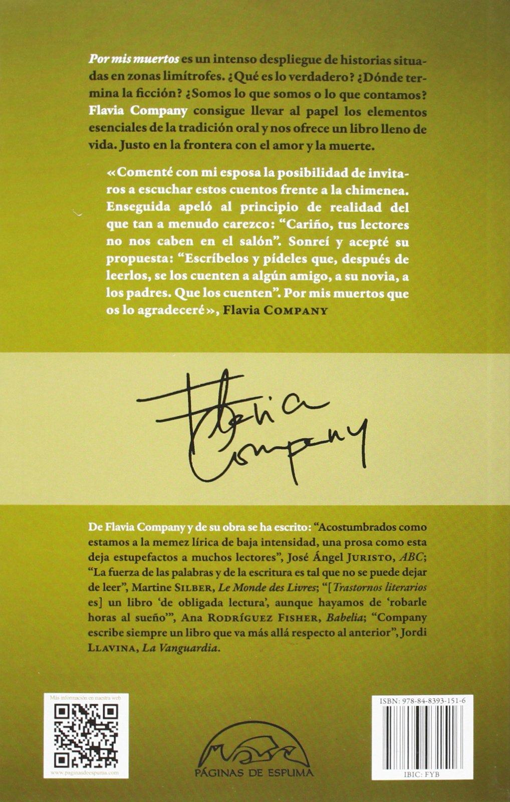 Por Mis Muertos (Voces / Literatura): Amazon.es: Flavia ...
