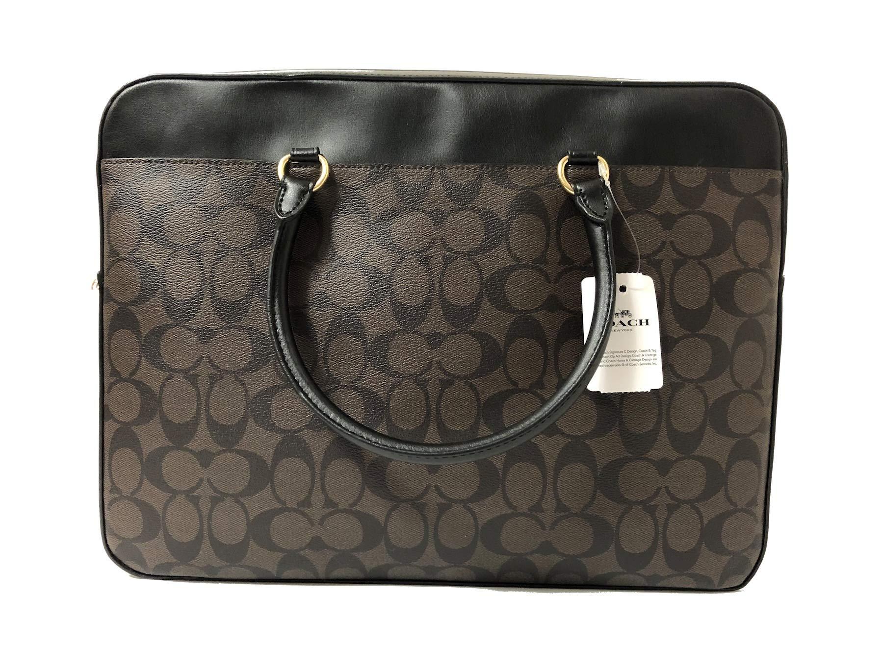 COACH Signature Laptop Bag F39023 Brown/Black by Coach (Image #5)