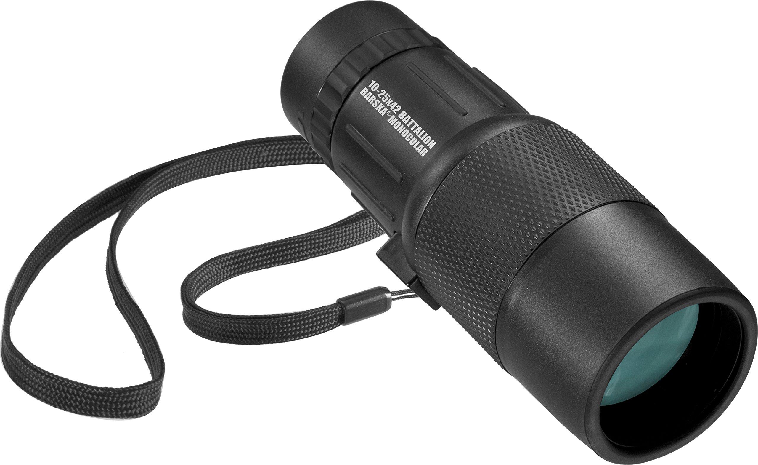 BARSKA New 10-25x42 mm Waterproof Fogproof Monocular Scope for Bird Watching/Hunting/Camping/Hiking/Golf/Concert/Surveillance by BARSKA
