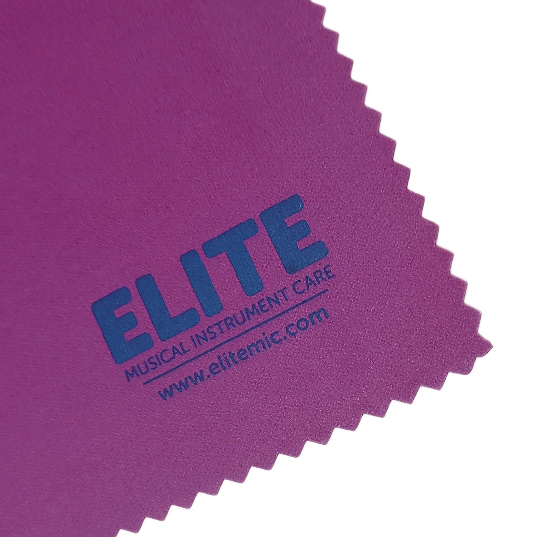 Elite MIC - Gamuza de limpieza de microfibra para el cuidado diario de instrumentos musicales