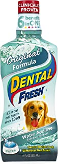 product image for Dental Fresh Water Additive - Original Formula For Dogs - Clinicially Proven, Simply Add to Pet's Water Bowl to Whiten Teeth, Eliminate Bad Breath, and Improve Oral Health (17 oz)