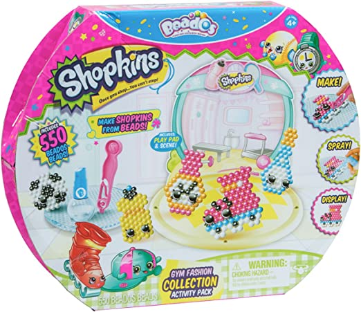 Amazon Com Beados Season 7 Shopkins Activity Pack Gym Fashion