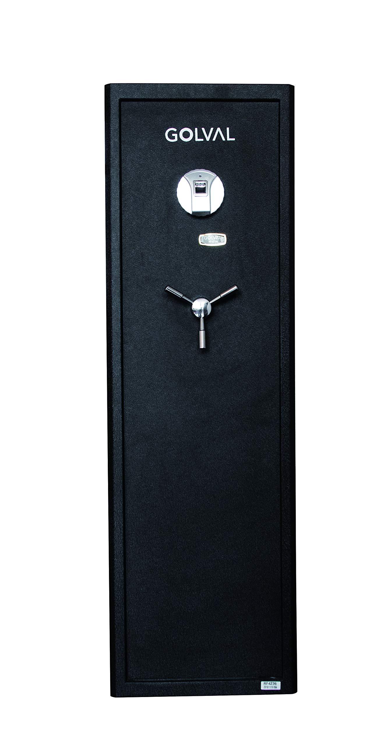 Golval RF4236 Large Quick Access Biometric Rifle Safe,Gun Safe,Cabinet 8 Guns by Golval