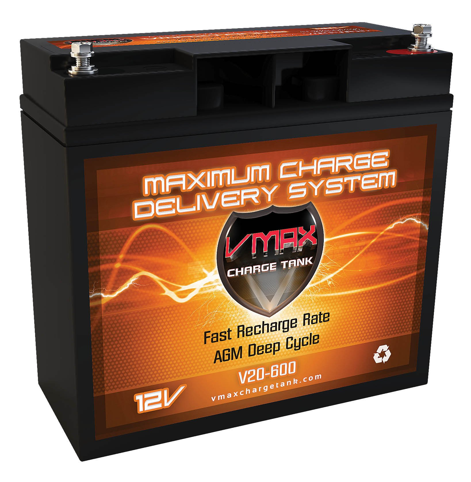 VMAX600 AGM Group 1/2 U1 Deep Cycle Battery Replacement for Black & Decker 90508-11 Lawn Mower 12V 20AH Scooter Battery