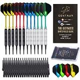 CENTAUR 12 Pack Soft Tip Darts, Professional 18 Gram Plastic Tip Dart Sets with 4 Colors Premium Aluminum Shafts 100…