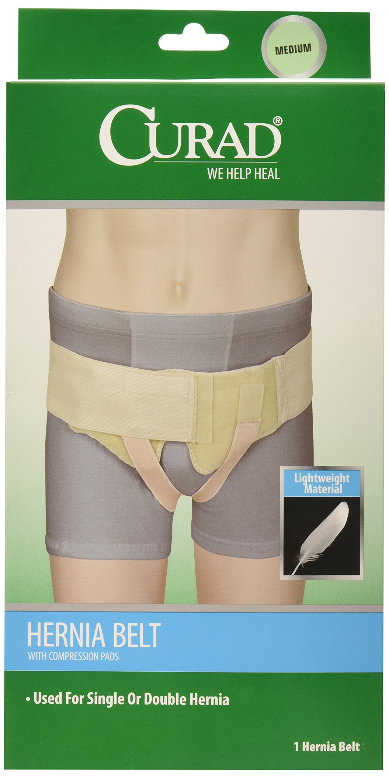 Curad Hernia Belt with Compression Pads, Medium