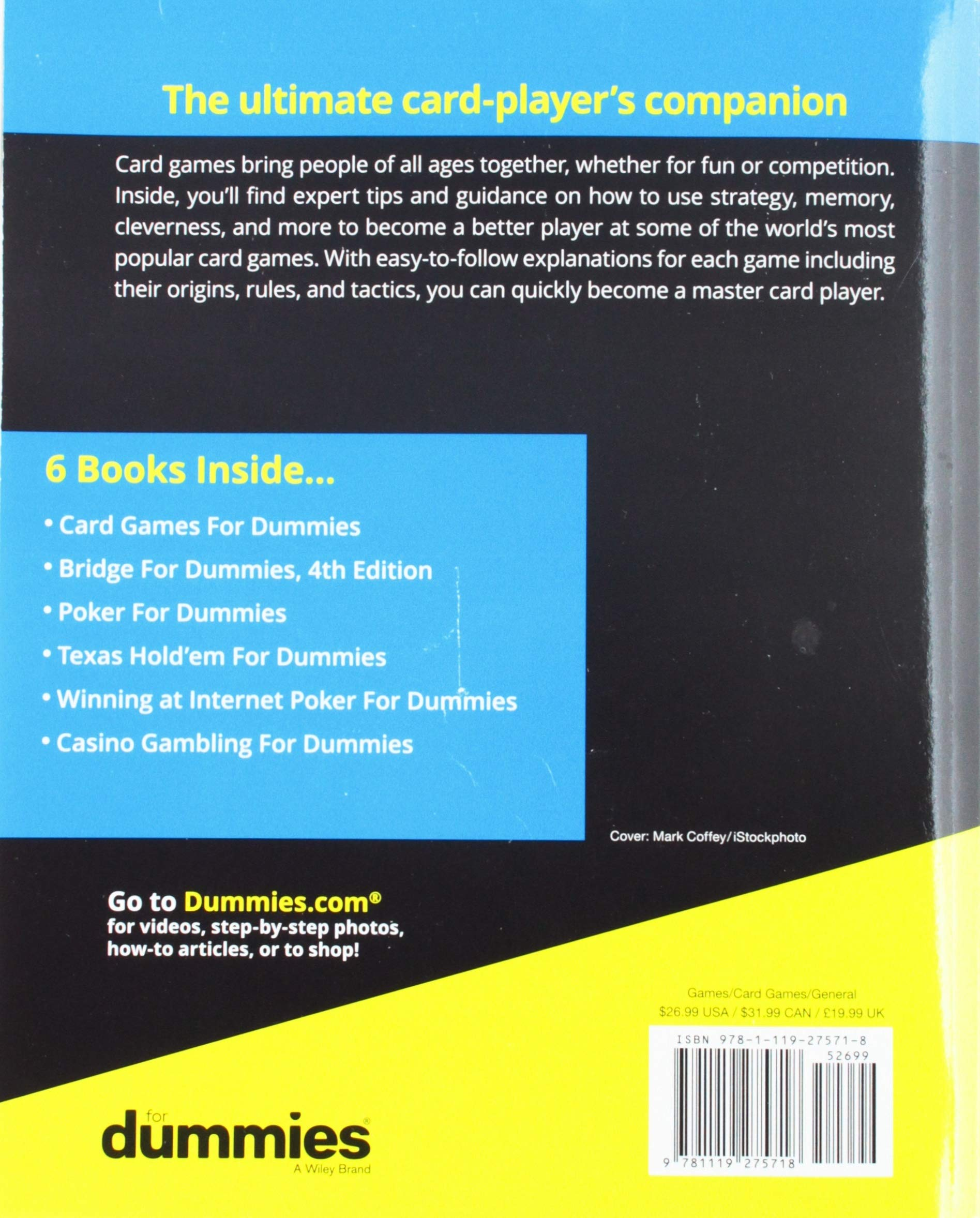 Card Games All In One For Dummies Consumer 9781119275718 Amazon Books