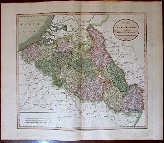 Map Of Germany Netherlands And Belgium.Amazon Com Belgium Netherlands West Of Rhine Germany 1811 John Cary