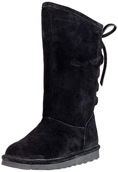 BEARPAW Womens Phylly Closed Toe Mid-Calf Cold Weather Boots, Black, Size 8.0