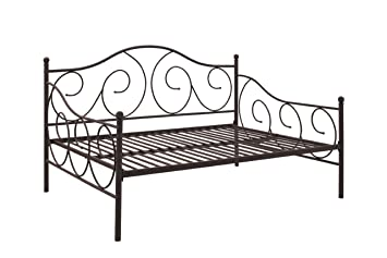 dhp victoria full size metal daybed bronze