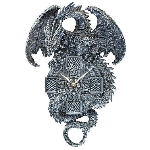 2 opinioni per Design Toscano CL3898 Orologio da Parete il Drago Cronometrista Celtico, Grigio