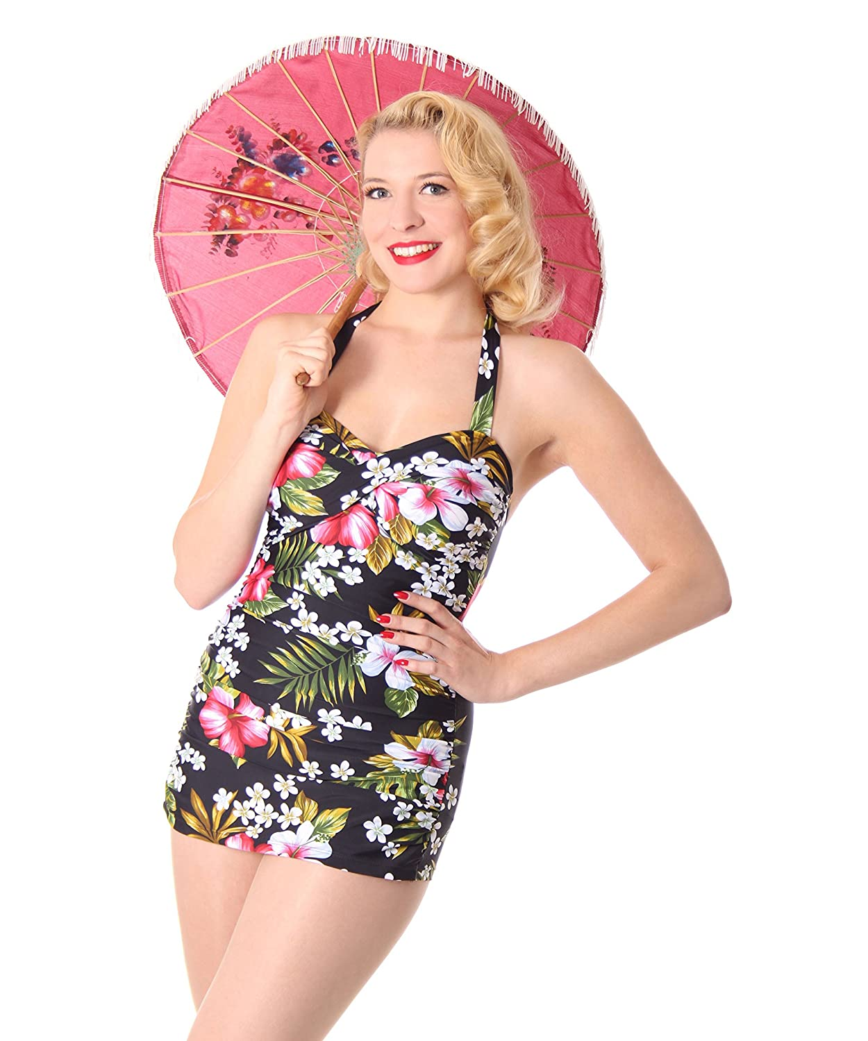 SugarShock Liz 50er Jahre retro Hawaii Pin Up Swimsuit Rockabilly Badeanzug