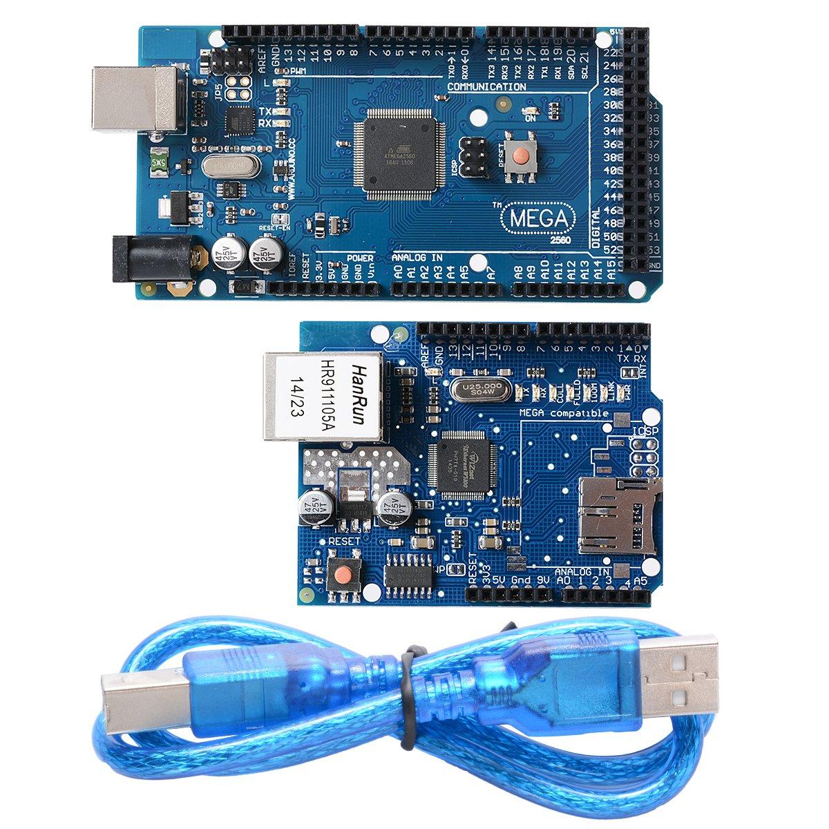 XCSOURCE ATmega2560-16AU ATMEGA16U2 Board + Ethernet Shield