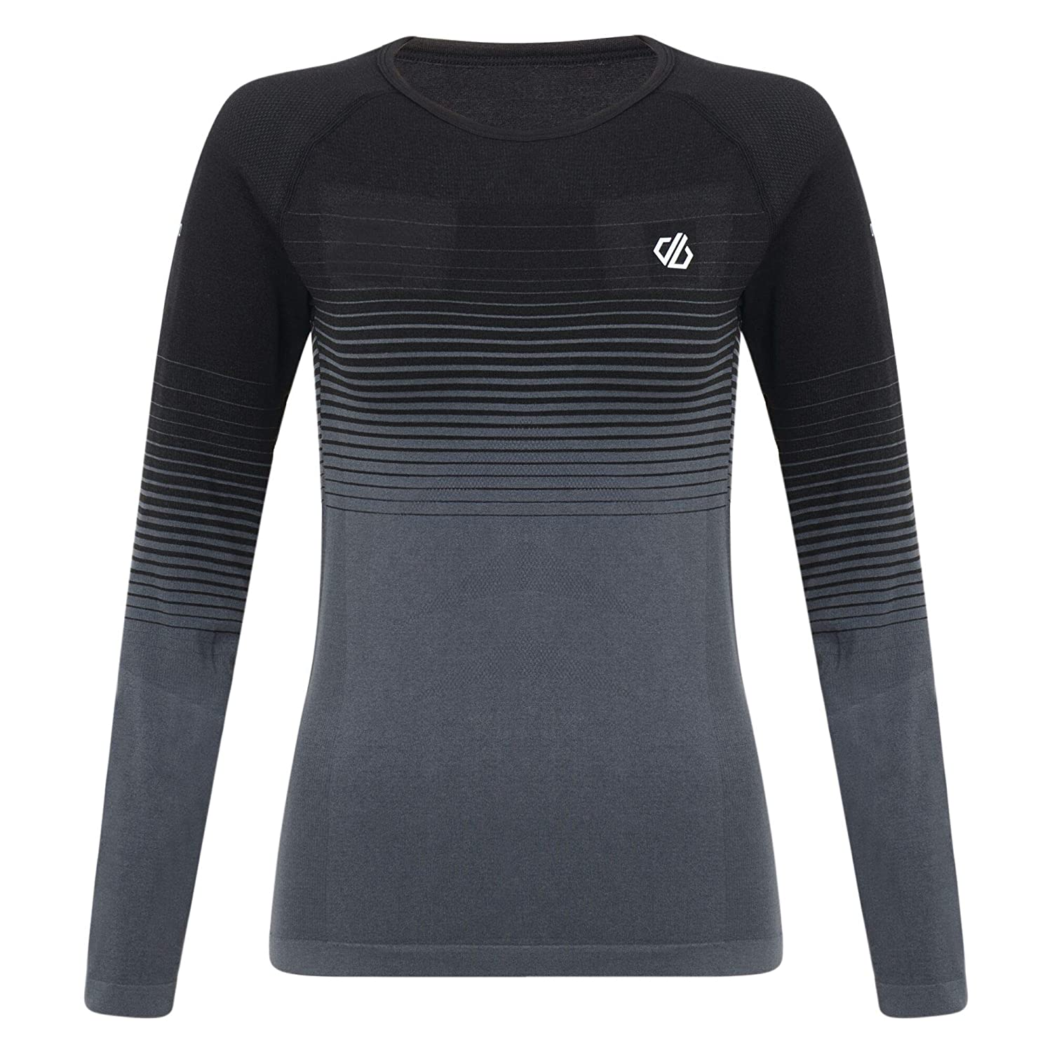 Mujer Dare 2b In The Zone Perfomance Fast Wicking Quick Drying Base Layer Long Sleeve Top with Seamless Technology and Ergonomic Body Map Fit Ropa Interior