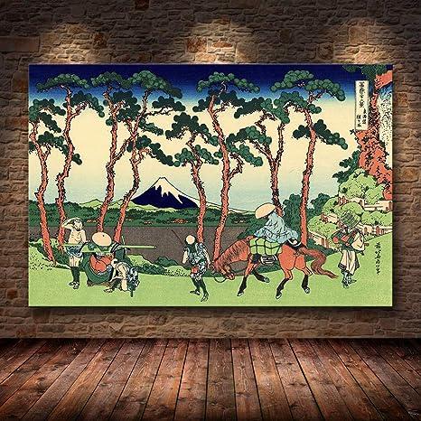 mmzki Estilo japonés Kanagawa Surf Lienzo Pintura ...