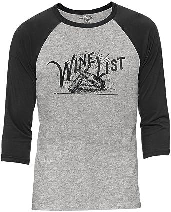 a3f9b788 Austin Ink Apparel Wine List Web Grey Unisex 3/4 Sleeve Baseball Tee  Charcoal,
