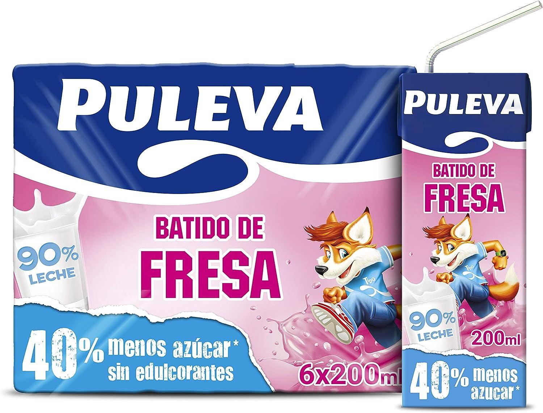 Puleva Batido de Fresa, 6 x 200ml: Amazon.es: Alimentación y ...