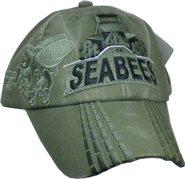 Navy Veteran Hat USN OD Green Baseball Cap U.S