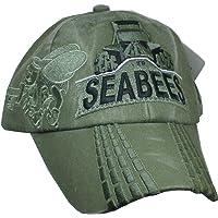 U.S. Navy Seabees Bulldozer OD Green Ball Cap