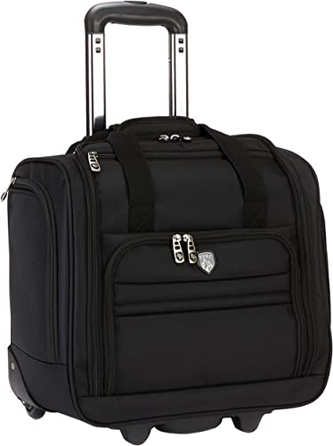 Travelers Club 16 Under Seat Carry-On, Black, 16 Inch