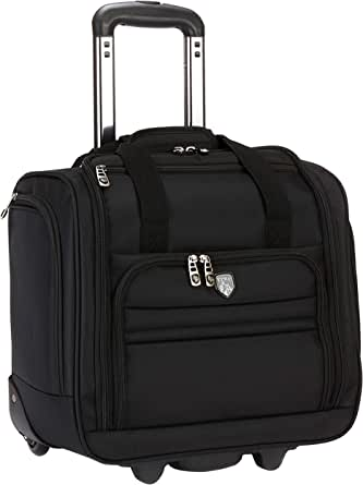 """Travelers Club Luggage 16"""" Under Seat Carry-On, Black"""