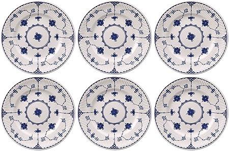 Johnson Bros Blue Denmark, Set of 6 Dinner Plates 25cm (SECOND ...
