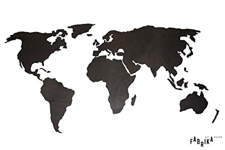 Unframed World Map Wood Wall Art And Decoration Travel Adventure - 3d world map wall art