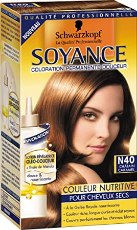 schwarzkopf soyance coloration permanente couleur nutritive chtain caramel n40 - Coloration Chatain Caramel