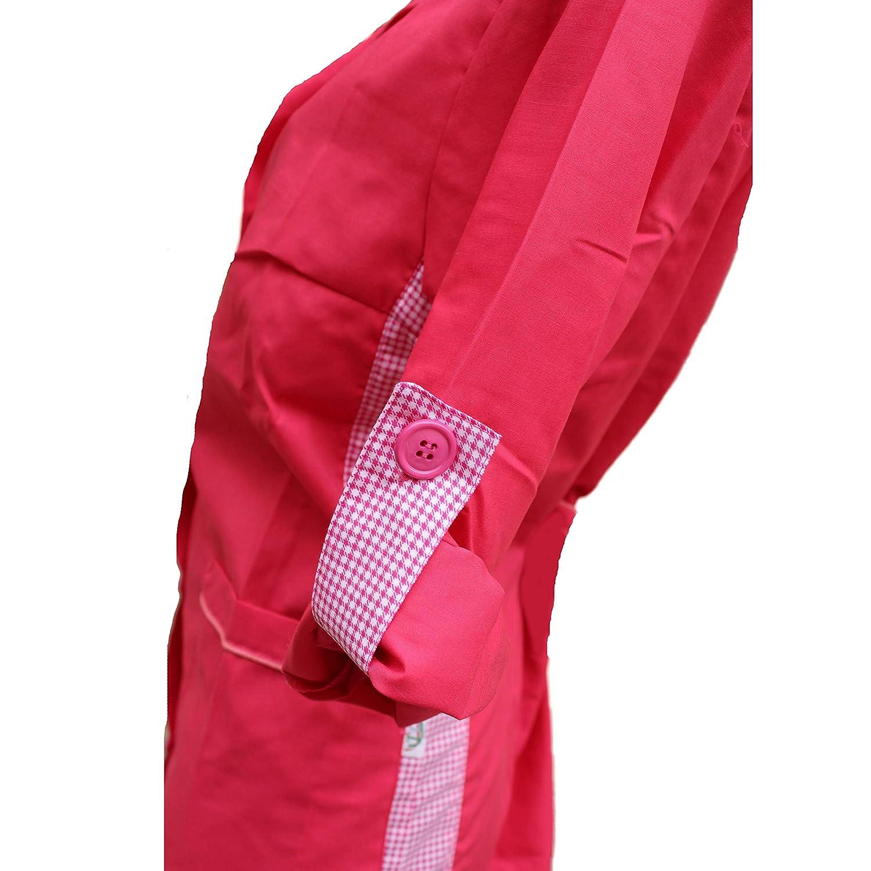 Petersabitidalavoro Camice da Lavoro Donna,Slim,Colore Fuxia,Regolazione Manica,Made in Italy