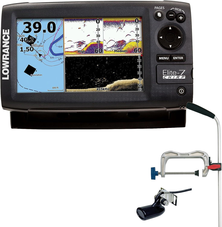 Lowrance Elite 7 HDI chirrido Combo 50/200kHz peces Echolot ...