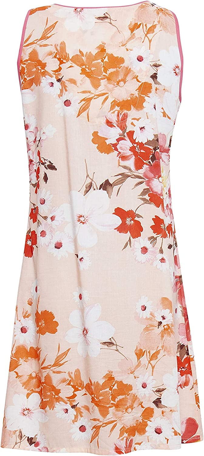 Cyberjammies 4428 Womens Darcie Coral Orange Floral Print Cotton Chemise