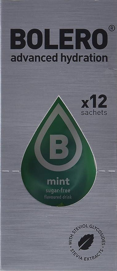 Bolero Bebida Instantánea Sabor Menta - Paquete de 12 x 36 gr - Total: 432