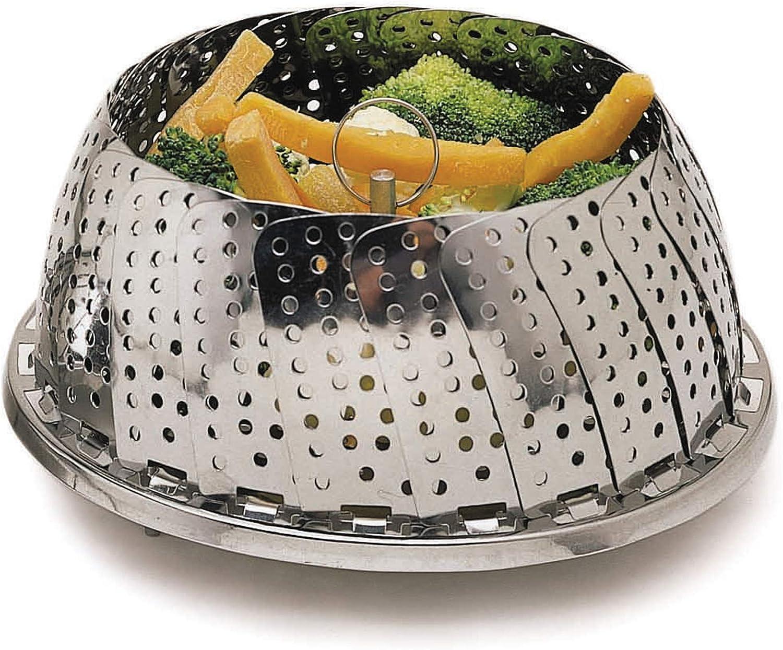23/cm Kitchen Craft Faltbarer D/ämpfkorb aus Edelstahl