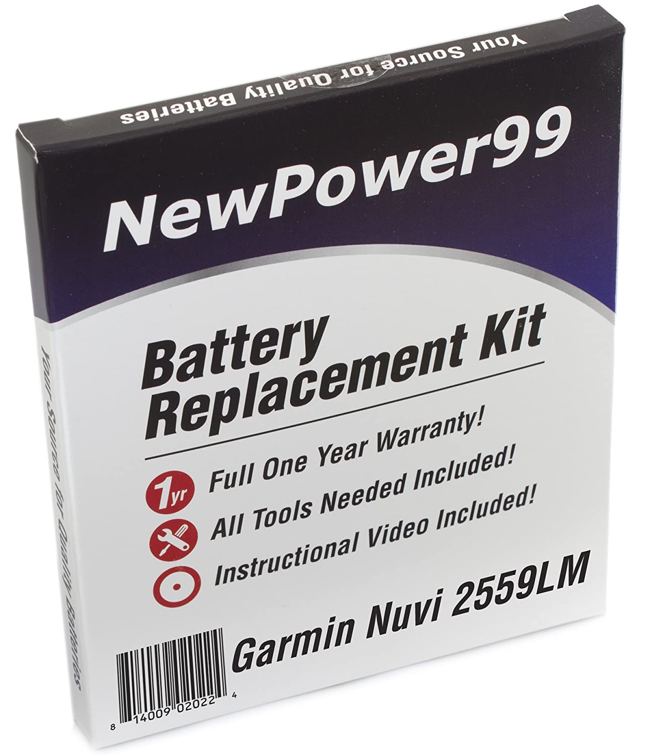 2 Pack Replacement for Garmin Nuvi 1390 Battery with Tools ...
