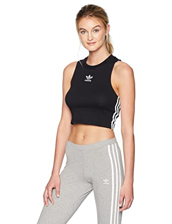 1f5c9556b28bfc adidas Originals Women s Crop Tank Top at Amazon Women s Clothing store