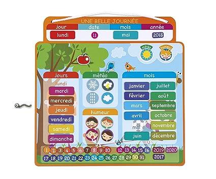 Janod - A beautiful day Agenda magnética, Version en Francés (J02972)