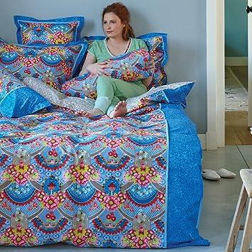 Pip Bettwäsche Garland Perkal Blau Größe Bettwäsche135 X 200 Cm
