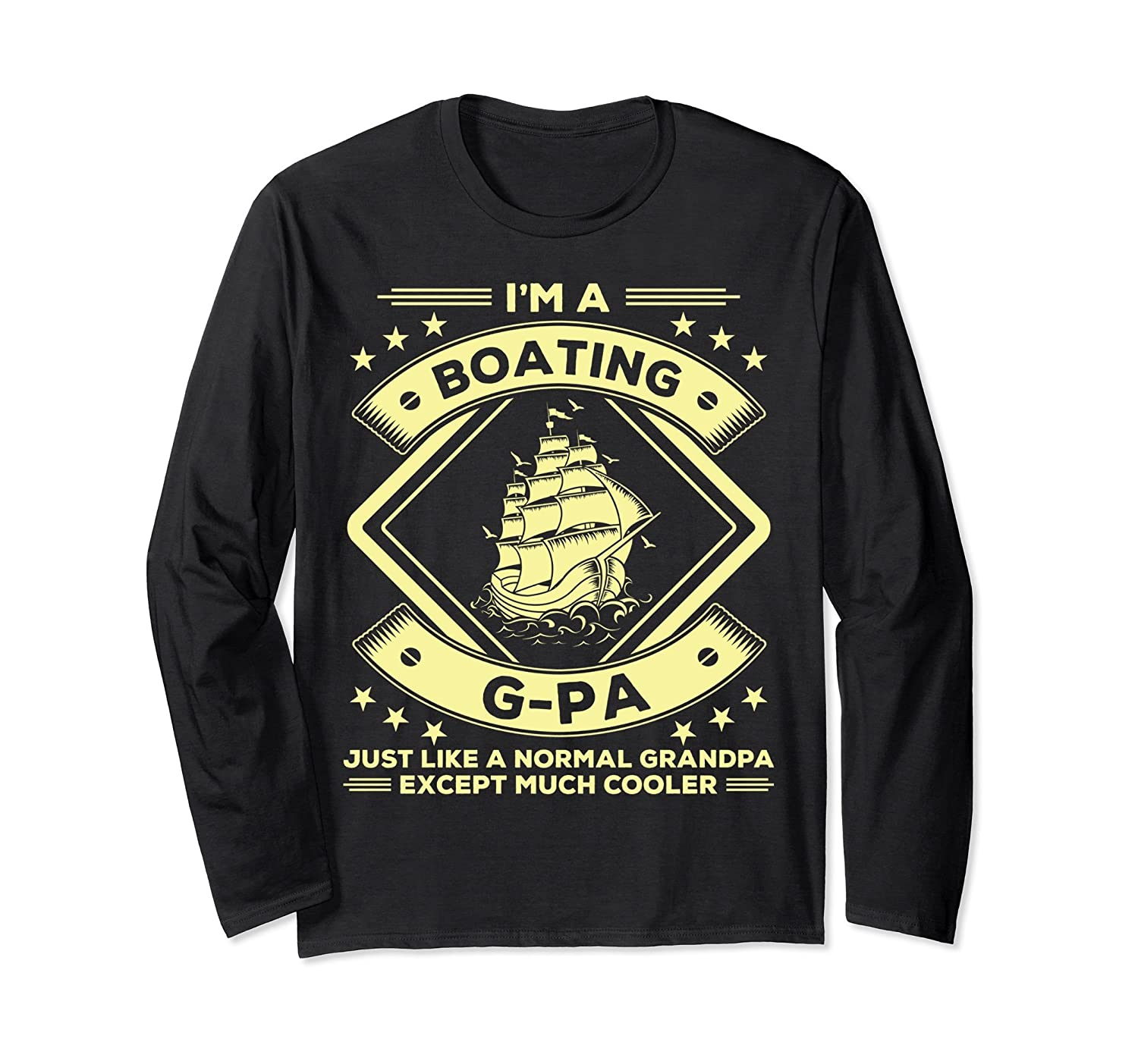 Boating G-pa Long Sleeves Funny Boating Lovers Tee Apparel-alottee gift