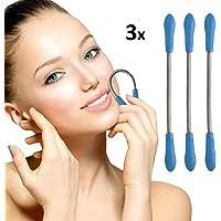 Oramics Silk Haarentferner für eine präzise Gesichtshaarentfernung z.B. bei Oberlippe, Kinn und Wangen (3er Set Blau)