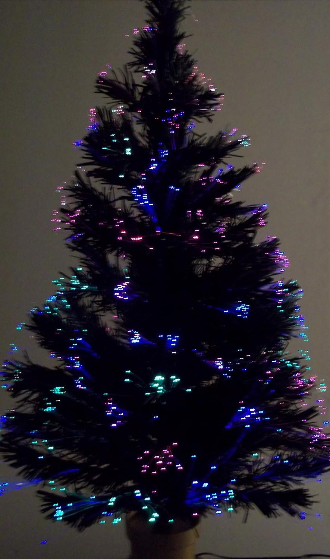 amazoncom 32 inch fiber optic christmas tree with stand home kitchen - Small Fiber Optic Christmas Tree