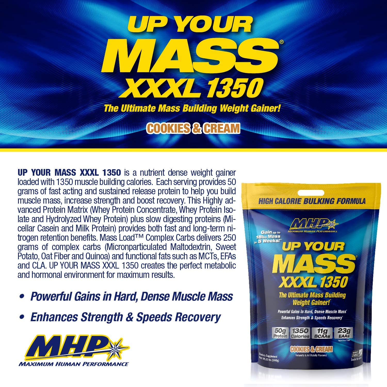 Mhp Up Your Mass XXXL 1350 (5400g) 1 Unidad 5400 g: Amazon.es ...