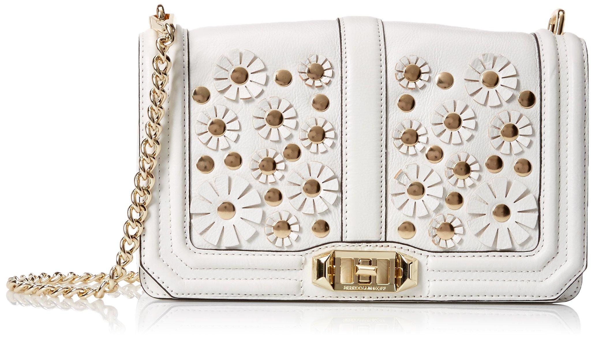 Rebecca Minkoff Love Crossbody Shoulder Bag, White, One Size