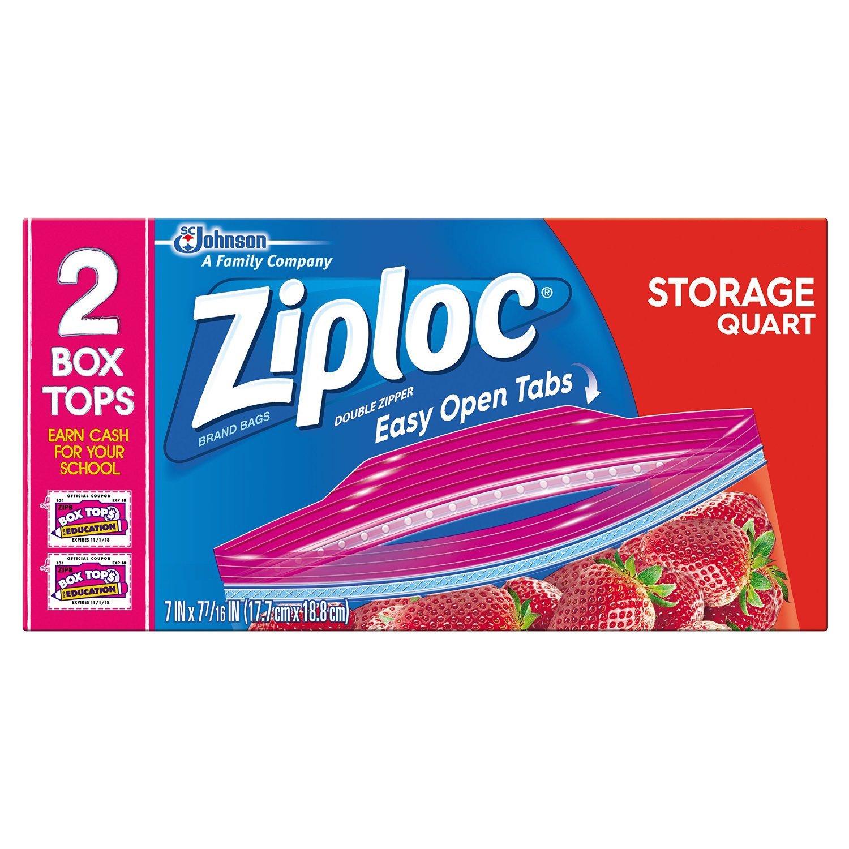 Amazon ziploc storage bags quart 48 count grocery amazon ziploc storage bags quart 48 count grocery gourmet food reheart Images