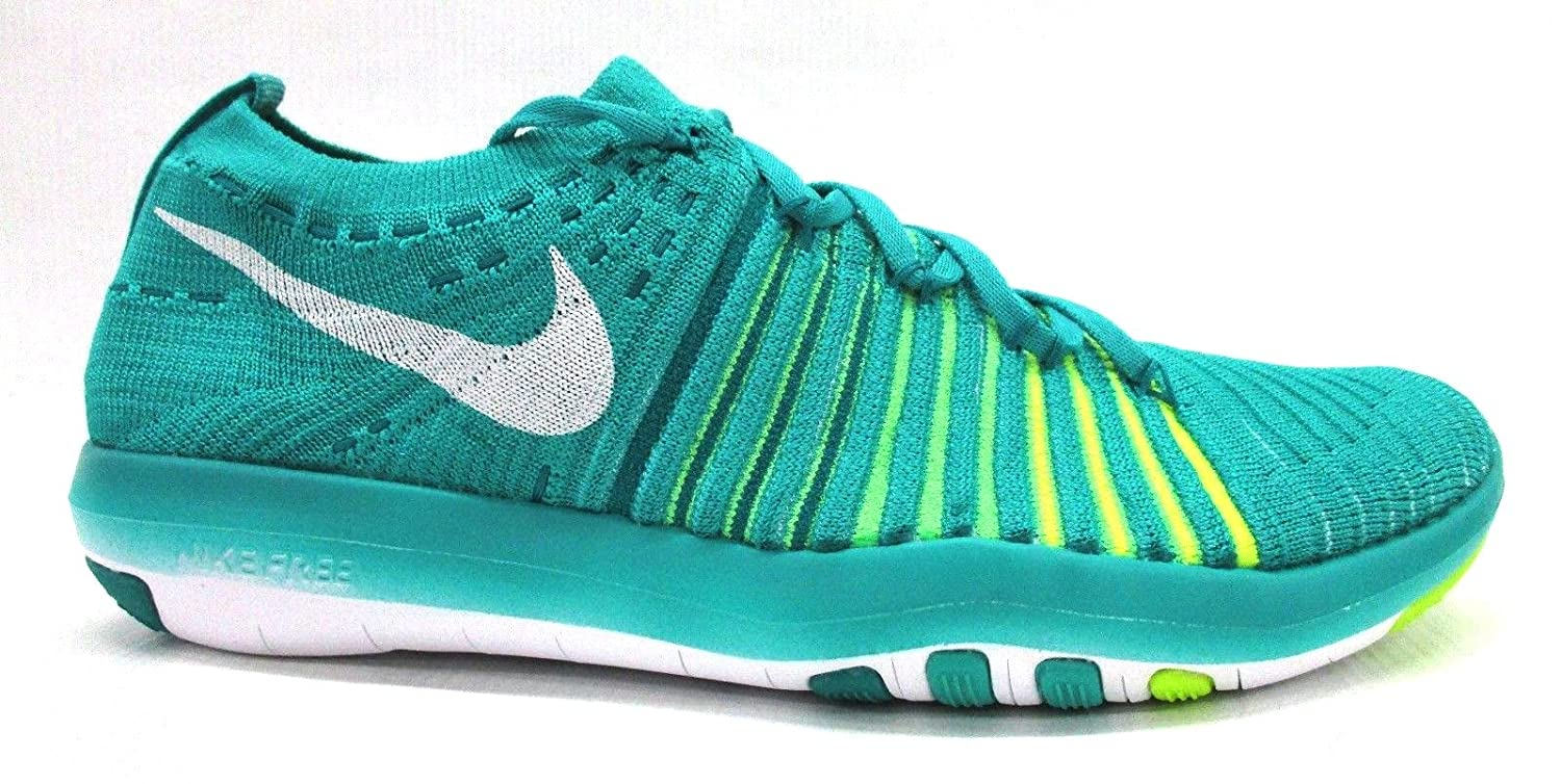 NIKE Womens Free Focus Flyknit Mesh Breathable Trainers B01HBY9BNE 7 B(M) US Clear Jade/White-r Tl-vltg Grn